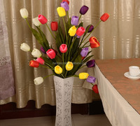 5 head silk flower artificial tulip with real touch feeling