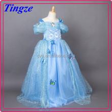 2015 New arrival fashion children long frocks designs frozen elsa girls wedding dress TR-F90