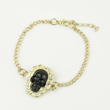 WLSL-1397 China Fashion Jewelry High Quality For Large Charms Wholesale Import Fluorescence Color Punk Skull Bracelet