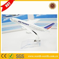Hot sale quality 16CM France Airways B747 Air metal aeroplane model, Metal airplane toy