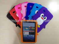 New Cute Penguin Silicone Soft Case Cover Skin For Samsung Galaxy Tab 2 7.0 Tablet P3100