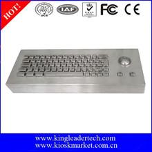 63 Keys Industrial Desktop Keyboard Dust-proof With 304 Stainless Steel Trackball