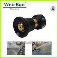 (22336) Big volume adjustable garden water high pressure plastic brass fire fighting equipment nozzle