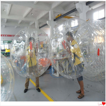 Inflatable Soccer Bubble Ball Suit Half Red, Bubble Soccer Game Bumper Ball, bubble ball walk water