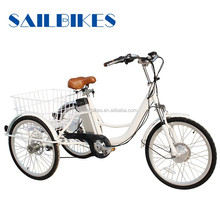 china golden supplier sailbikes adult three wheel tricycle with 250w motor
