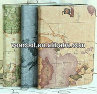 """Map Leather Case Cover For Samsung Galaxy Tab 3 10.1"""" P5210 P5200"""