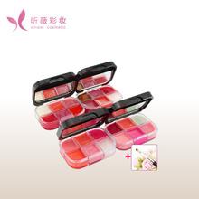 your own brand makeup manufacturer 6 colors shinny lip blam lipgloss palette lip color
