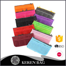 Solid Color Nylon Mesh Cosmetic Bag Packing Organizer Storage Bag
