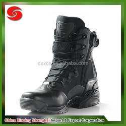 Easy to wear high quality anti-abrasion black real leather military combat boots leather boots safety boots