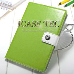 2015 Wholesale Best Selling Cover Case PU leather case for leather ipad mini case,wallet case for ipad mini with stand function