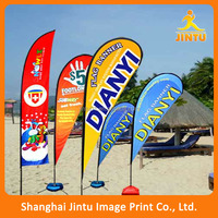 promotional teardrop event flag for outdoor marketing