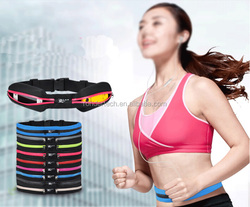 Water Resistant Elastic Stretch Running Belt, Treadmill Waist-belt Pouch for Men & Women for Storing iPhone, Keys, Wallets