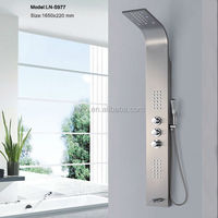 304 stainless steel LED thermostatic faucet manufacturers shower panel LN-S977