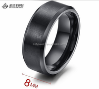 High quality jewelry black men ring tungsten ring 2015