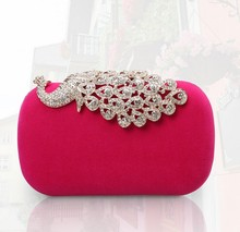 C29103A New Ladies Suede Shinning Clutch Bags