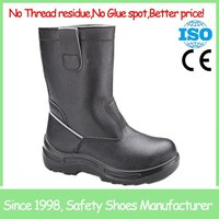 High quality new comfortable Black anti slip steel toe russia safety boots