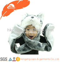 High quality fashion children animal hat/wolf winter hat/animal ears winter hat