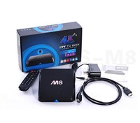 M8 Amlogic S802 Quad Core 4K google Android TV Box 4.4 with XBMC 13.2gotham android media player smart live tv box