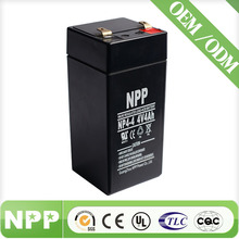 rechargeable sealed lead acid battery 4v 4ah for Lamp