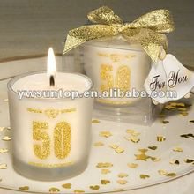 50th Anniversary candle favours for wedding favor gift