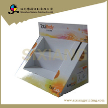 fashionable supermarket store shopping new design cosmetic display stand for body lotion