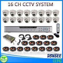 16Ch Channel Full HD Recording 800tvl HDMI with 16pcs High Quality dome Camera ONVIF cctv camera tester