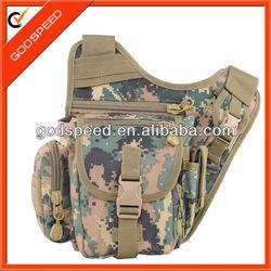 Cute camouflag polyester waterproof women sling bag