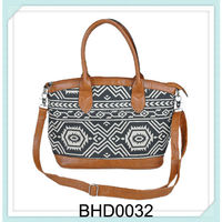 patterned canvas fabric nice specical women bag handbags