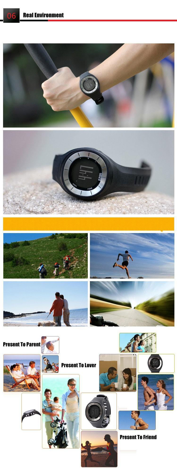 Ezon часы T028B01 T028B11 T028B18 Шагомер спорта работает школа смарт-цифровые часы