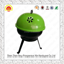 Detachable foldable small round ceramic charcoal bbq grill
