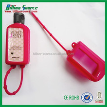 Promotional 30ML hand sanitizer gel silicon bottle holder