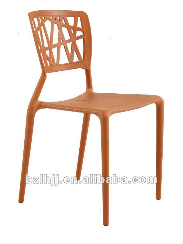 De pl stico moderno comedor side apilable silla viento for Sillas comedor plastico