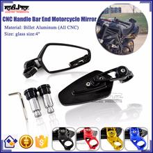 BJ-RM-061B For Motorcycle Yamaha R6 CNC Aluminum Motorcycle Handle Bar End Mirror