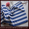 The newest style 0f 2015 100% cotton Hotel big bath towel classic blue and white stripe