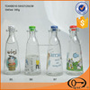 Clip Ceramic Lid Clear Glass Milk Bottle 1000ml and 500ml