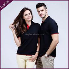 2015 Fashion Couple Polo Shirt Cotton Wholesale Clothing Ladies&Men' Short Sleeve Polo Shirt