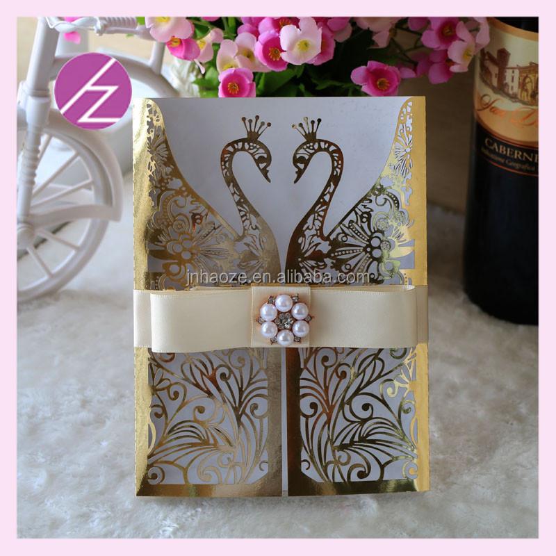 Lovely Swan Elegant Wedding Invitation Cards Best Selling Latest ...