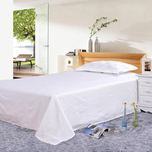 Modern cotton 50% polyester 50% American size plain hotel bed sheets