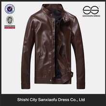 Trendy Style Men's Brown Leather Jacket, Custom Made Stylish Shiny Leather Jacket For Man
