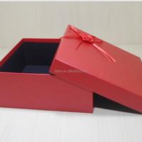 Custom made small jewelry gift box red jewerly packaging box, red jewerly box