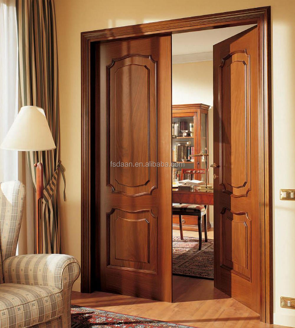 2014 carved interior partition door bedroom teak wood door for Wood doors for bedroom