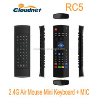 Wireless Keyboard2.4G Air Mouse with Speaker Microphone Remote Control for Android TV Box Stick Media Player