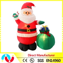 Hot sale brush indoor & outdoor christmas decoration Inflatable santa claus doll supplies