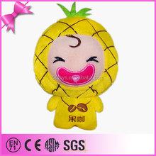 2015 china import toys stuffed fruit plush pineapple toy pendant