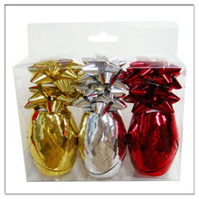 Gift Packing Metallic Curling Ribbon Egg and Star Bow in PVC Box