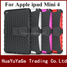 Free shipping Rugged Hard Robot Back Cover Stand Holder kickstand case for Apple ipad Mini 4