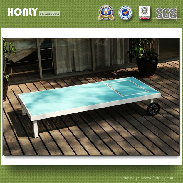KD anodized aluminum outdoor furniture beach outdoor furniture sunbed