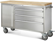 430 anti-finger printing 48'' tool chest with heavy duty caster