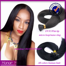 Alibaba china wholesale grey human hair weaving remy indian double drawn pre tipped human hair