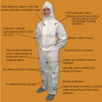 Hot!Disposable Waterproof Safety PP Nonwoven CoverallProtective Clothes Cheap Safety Coverall Workwear Uniforms/Working coverall